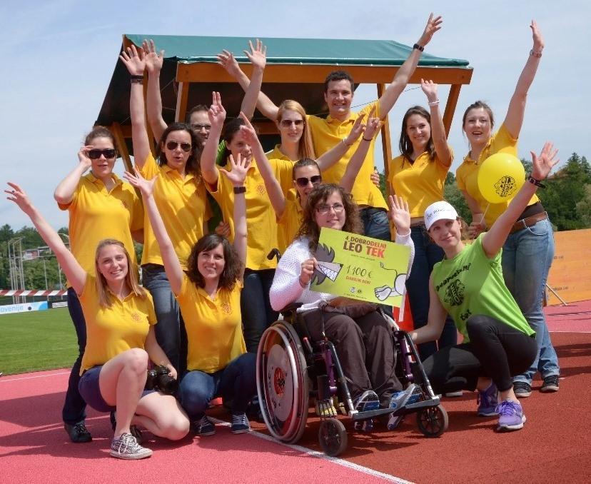 Dobrodelni LEO tek 2014: Za študentko Mojco zbrali 1100 evrov!