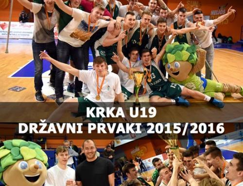Po dveh letih mladinci Krke znova do naslova prvaka